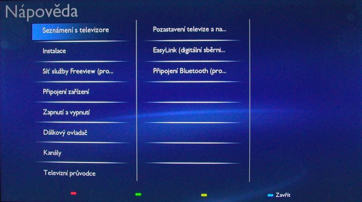 Philips 24PFS5231 – teletextová tlačítka