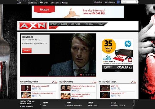 Nová podoba webových stránek tematického kanálu AXN