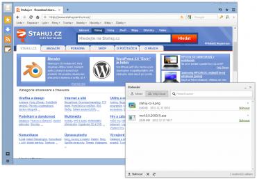 Rozhraní prohlížeče Maxthon Cloud Browser