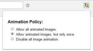 Rozšíření Animation Policy pro Google Chrome