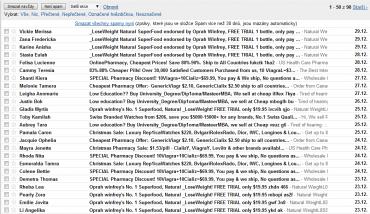 <p>Tolik spamu a jedna nabídka Viagry za druhou</p>