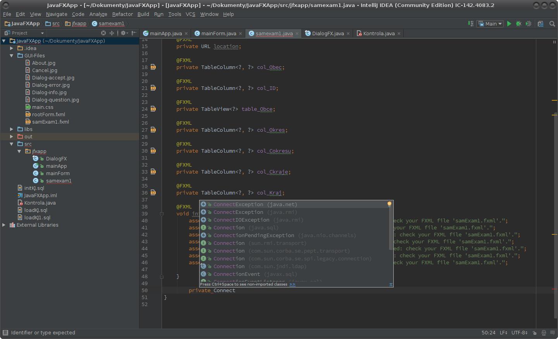 JavaFX: dialogy a dialogová okna