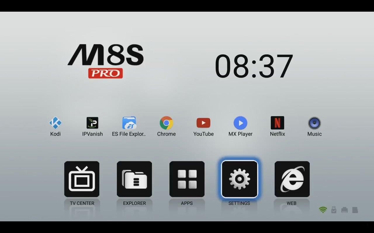 Android 7.1 (menu nastavení a preferencí)