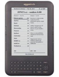 iDnes ve verzi pro Kindle