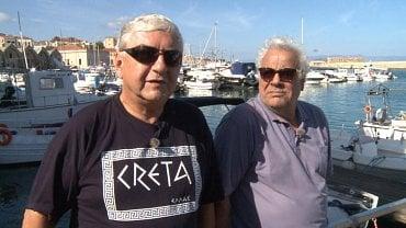 Miroslav Donutil a režisér Georgis Agathonikiadis.