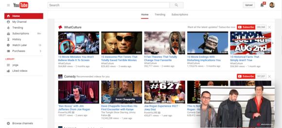 Přehrávání videa na YouTube pomocí rozšíření Picture-in-Picture