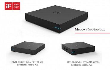 4K STB od ZTE s podporou kodeku AV1, kabelový / IPTV