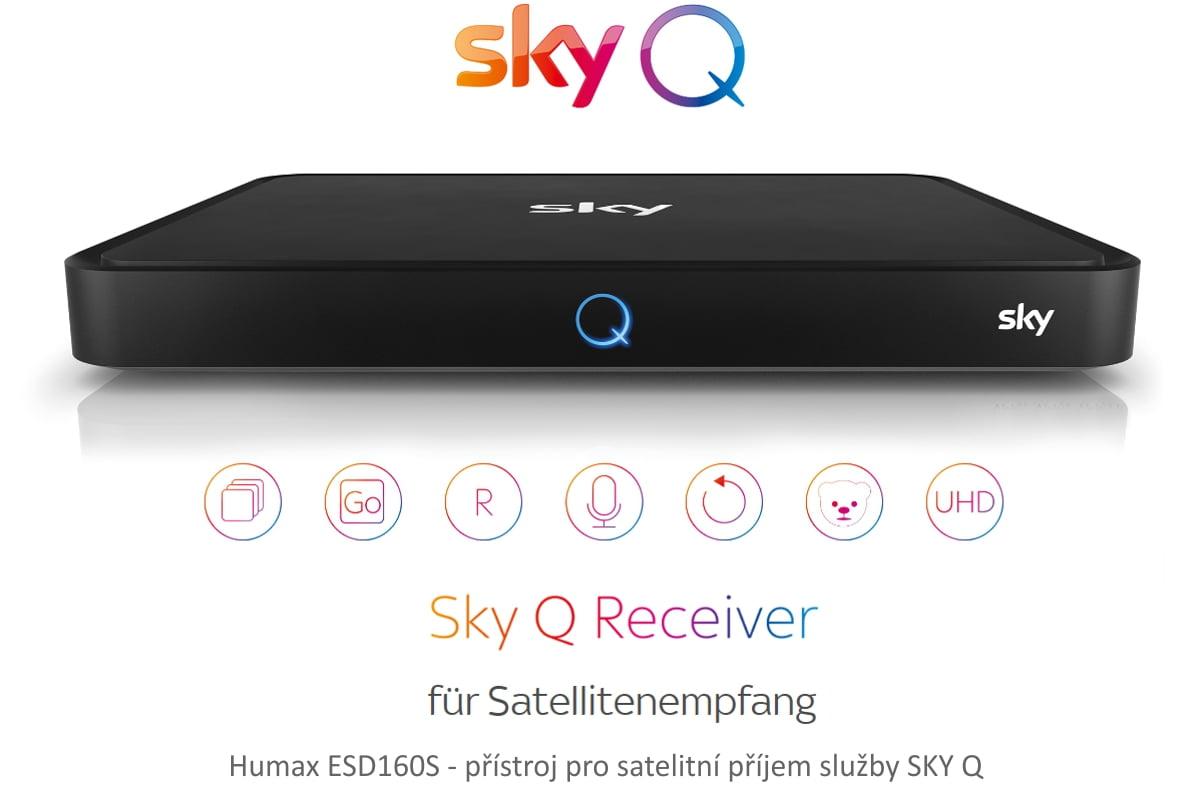 Základní německé přístroje pro Sky Q