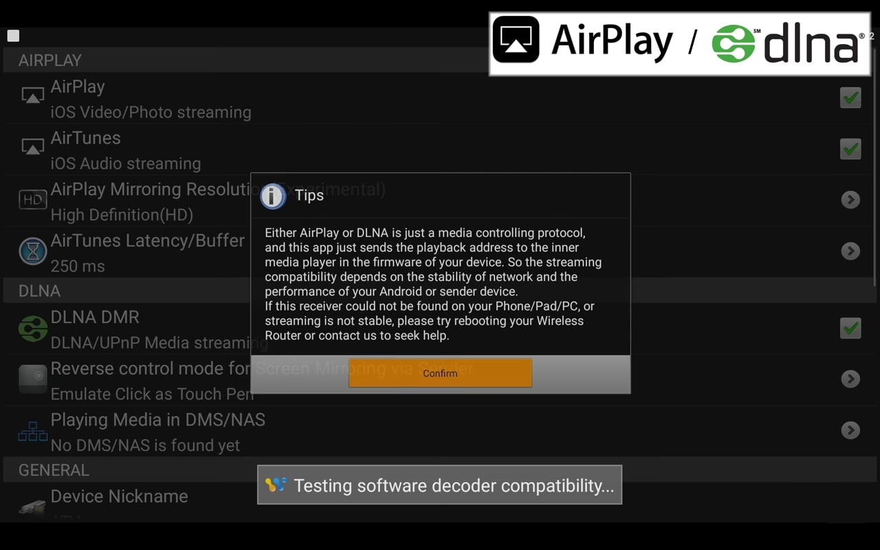 AirPlay / DLNA / Miracast