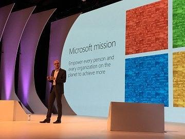 Výkonný ředitel Microsoftu Satya Nadella v Praze