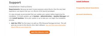 Ubuntu One - add ppa