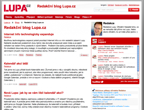 Blog Redakce Lupy