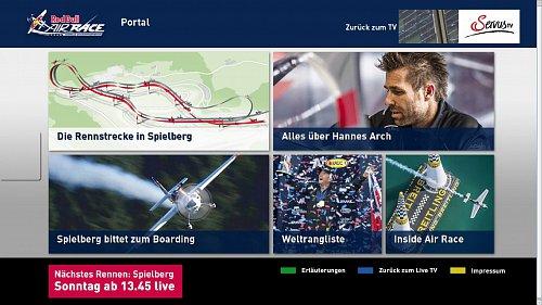 Ukázka z hybridní aplikace rakouské neplacené televize Servus TV