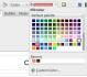 Výběr barev v Impress a Draw