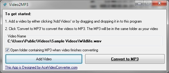 Video2MP3 převede video do MP3