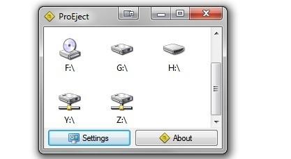ProEject odpojuje zařízení