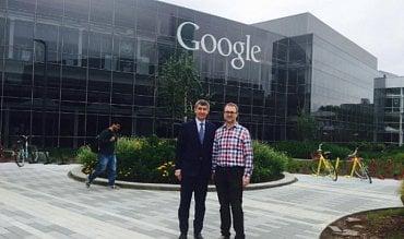 Andrej Babiš v centrále Googlu