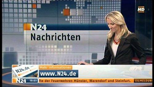 Ukázka z vysílání německého zpravodajského kanálu N24