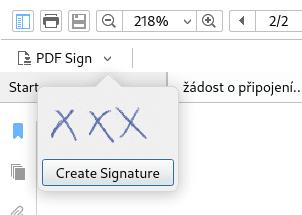"""Vkládání """"vizuálního"""" podpisu ve Foxit Readeru"""