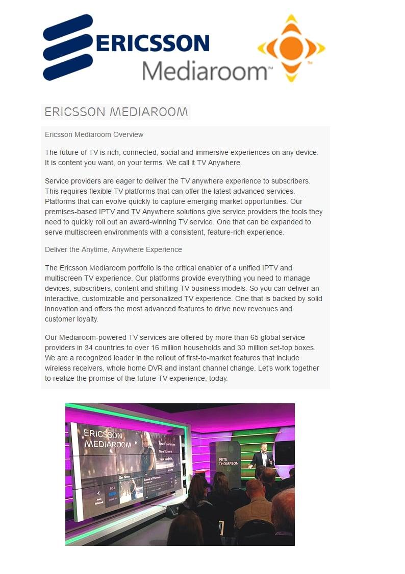 Erricson Media Room