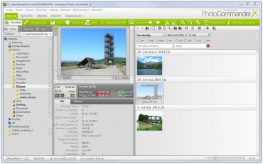 Ukázka výběru více složek a filtrování fotek