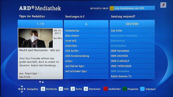Německý portál ARD Mediathek