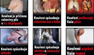 Vitalia.cz: Pro otrlé: 42 obrázků, které budou na cigaretách