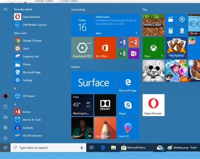 V nabídce Start, která se zobrazuje vlevo dole, najdete všechny aplikace nainstalované v počítači