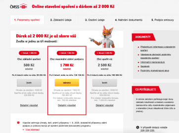 Liška nabízí bonus až 2000 Kč za online sjednání smlouvy, ale poplatek za sjednání zůstává.