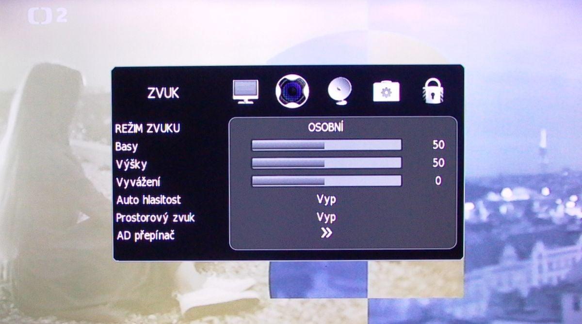 Sencor SLE 43F58TCS - menu nastavení