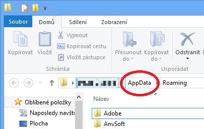 Složka AppData