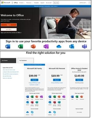 Okno Získat produkt Office