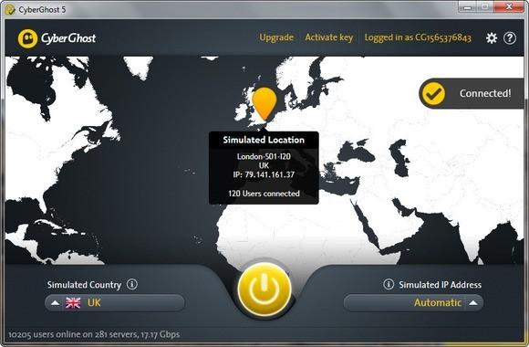 CyberGhost nabízí zdarma službu připojení do sítě VPN, pomocí níž se dá utajit vaše IP adresa