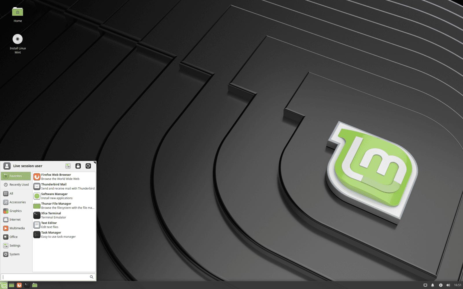 """Linux Mint 19.1 """"Tessa"""" Xfce"""
