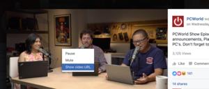 Klepněte pravým tlačítkem myši na video a z místní nabídky vyberte příkaz Show video URL
