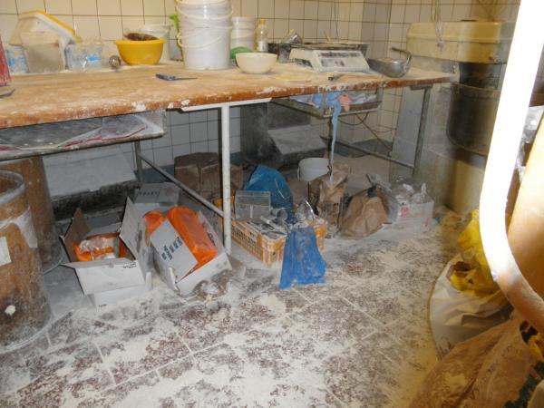 Znečištěná pekárna v Mostě