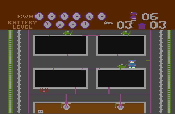 Hra Electrician - uvnitř budovy