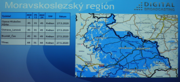 Vypnutí DVB-T vysílačů Digital Broadcasting na severní Moravě.