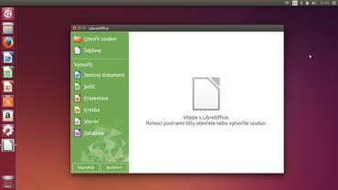 LibreOffice 4.2 s novou uvítací obrazovkou.