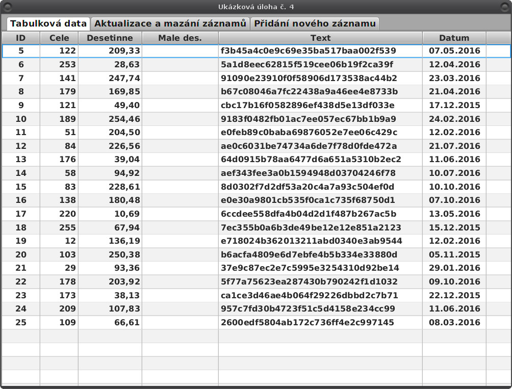 JavaFX: mazání záznamů