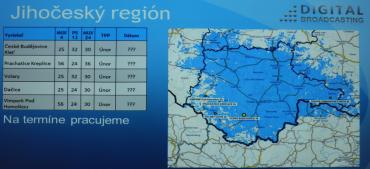 Vypnutí DVB-T vysílačů Digital Broadcasting v jižních Čechách.