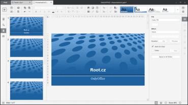 OnlyOffice: editor prezentací