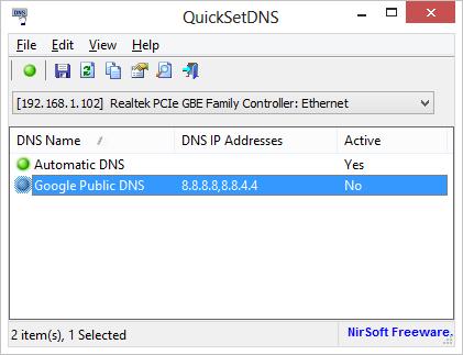 QuickSetDNS usnadní práci administrátorům
