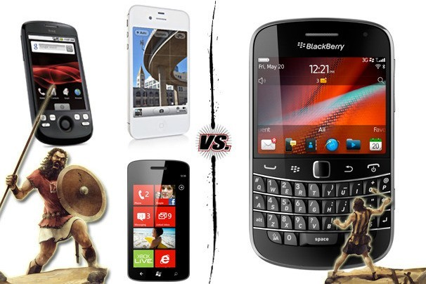 iOS, Android a Windows Phone 7 vs. BlackBerry