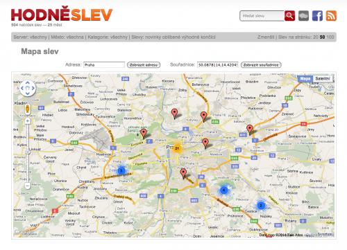 Mapa Hodněslev.cz