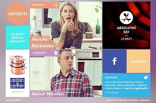 Stanice Mňam TV spustila webové stránky
