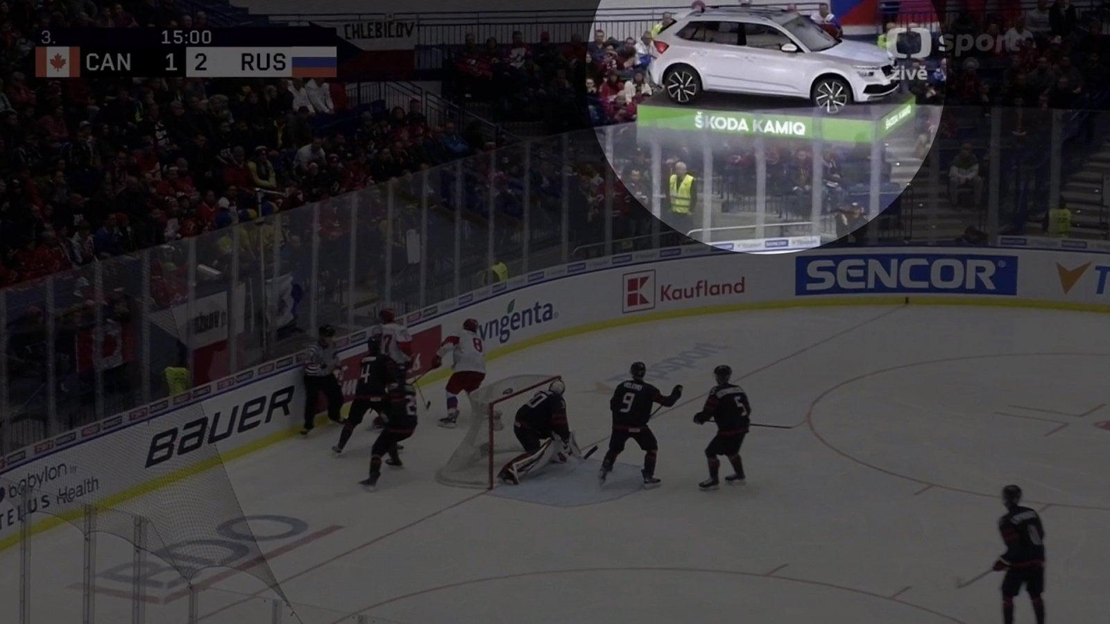 Virtuální škodovky v hokejovém přenosu