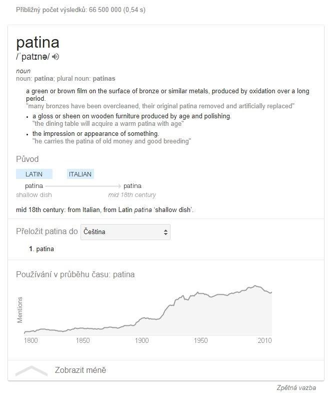 Pokud chcete zjistit význam nějakého slova a případné další informace okolo něj, nejrychleji to zjistíte tak, že toto slovo zadáte do vyhledávače Google