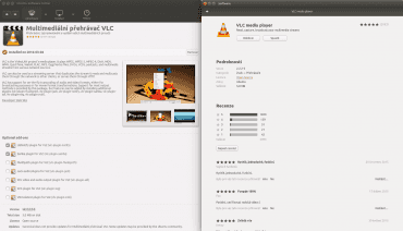 Srovnání starého Centra softwaru a nového GNOME Software