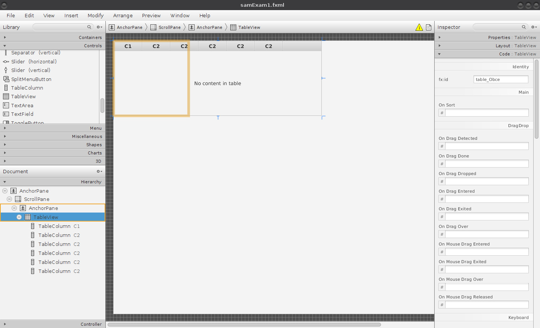 JavaFX: formulář a databázový konektor